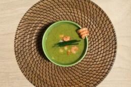 Sanguinum Abnehmrezept: Brokkolicremesuppe mit Garnelen