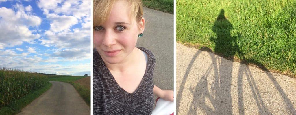 Abnehmbloggerin Luisa bewegt sich viel an der frischen Luft, besonders gerne mit dem Rad!