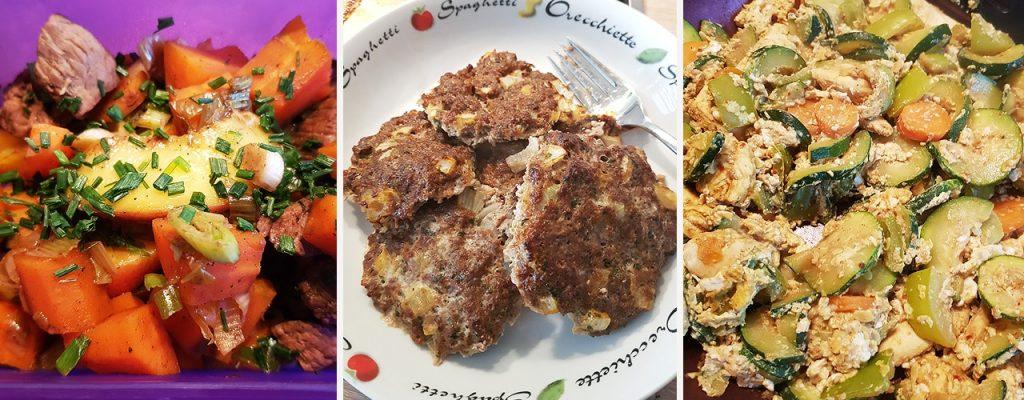 Verschiedene Gerichte von Cindy