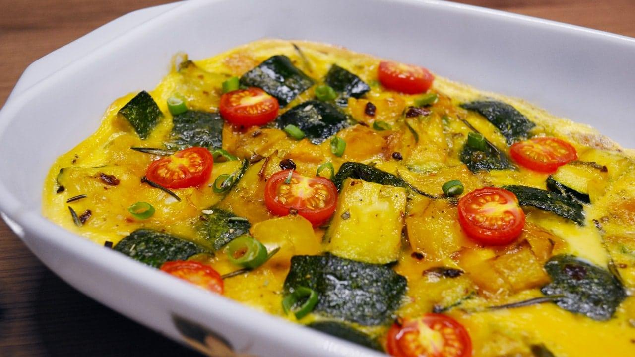Mediterranes Ofen-Omelette