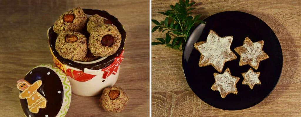 Sanguinum Kekse: Zimtsterne und Nussmakronen
