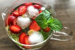 Erdbeer-Minze-Drink