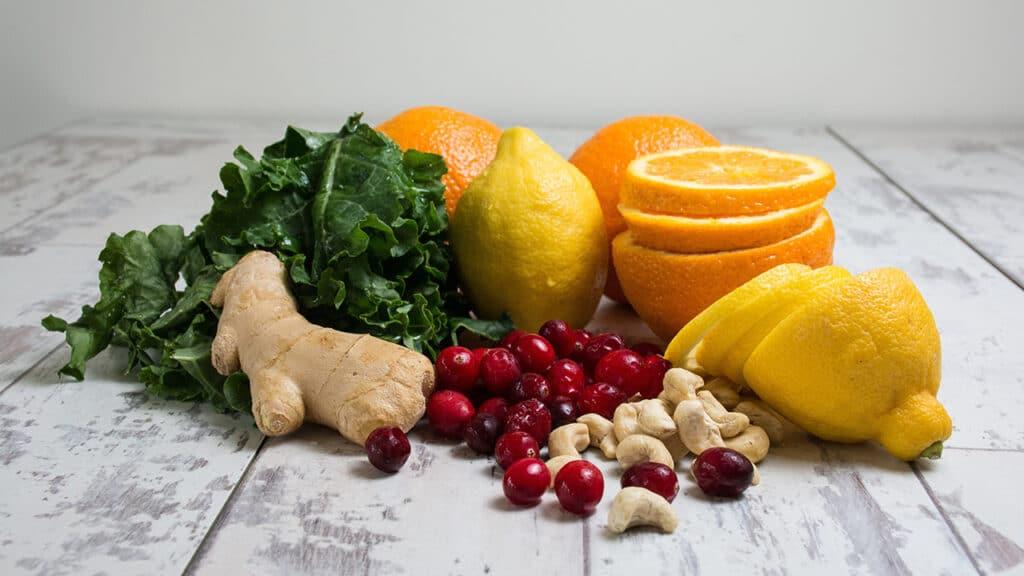 stoffwechsel ernährung ingwer zitrone vitamine