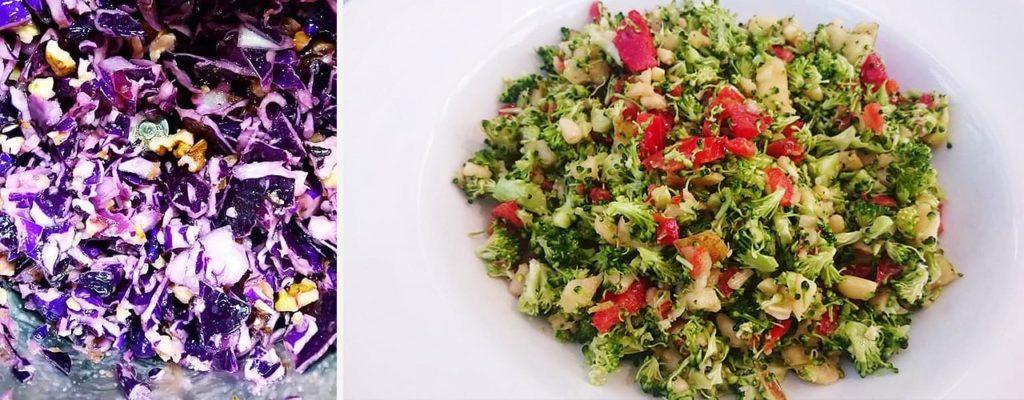 brokkolisalat rotkohl salat